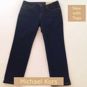 NWT Michael Kors Izzy Cropped Midrise Skinny Jeans